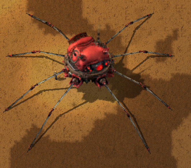 A large crawlertron with tiny legs.